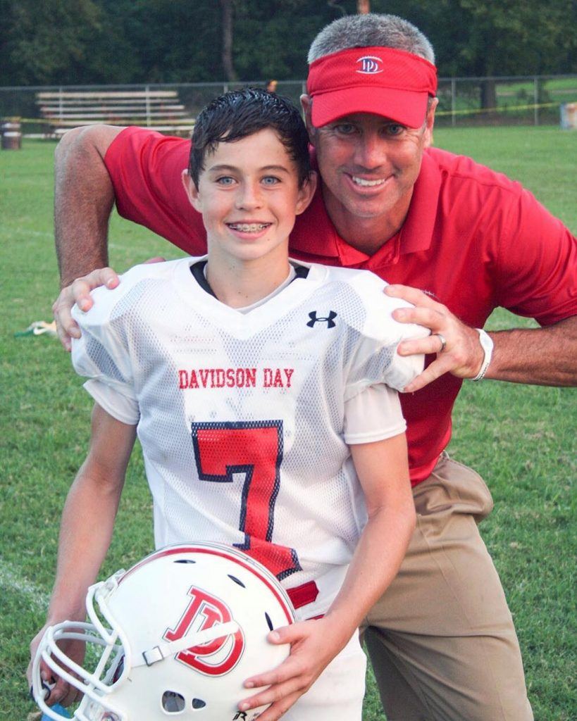 Nash Grier Young Age Photo with Dad Chad Grier