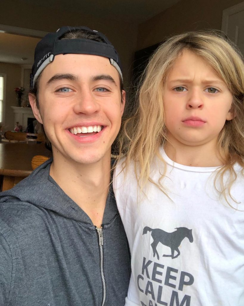Nash Grier with Step Sister Skylynn Floyd