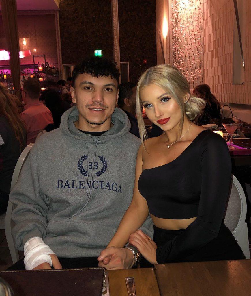Frazier Khattri with girlfriend Charlotte Parkes