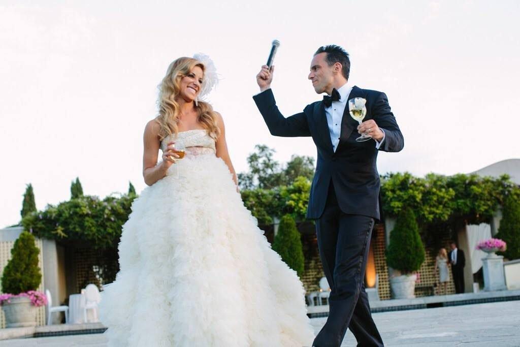 Sebastian Maniscalco and Lana Gomez Wedding Photo