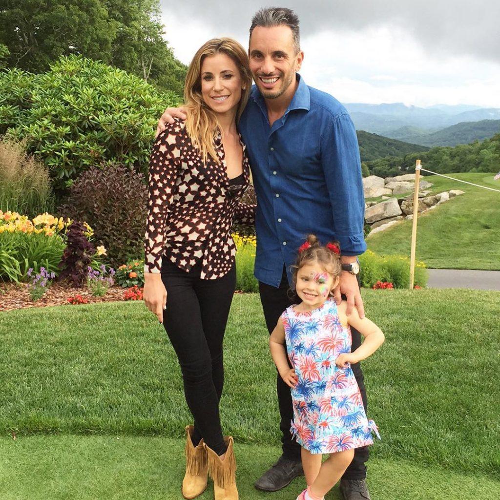 Sebastian Maniscalco with Lana Gomez and Daughter Serafina Maniscalco
