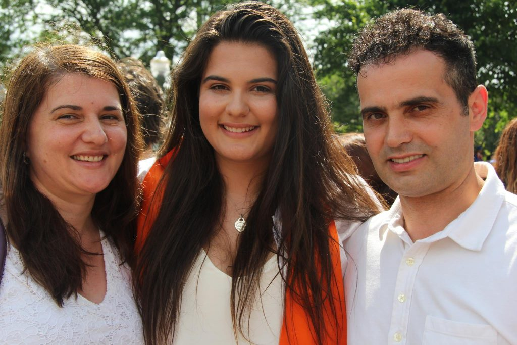 Melinda Father Safet Ademi and Mother with Her Sibling