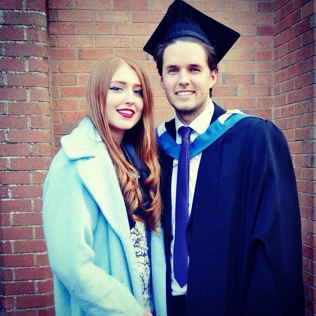 George Warrington with Girlfriend Lucy D'Agostino at College Graduation