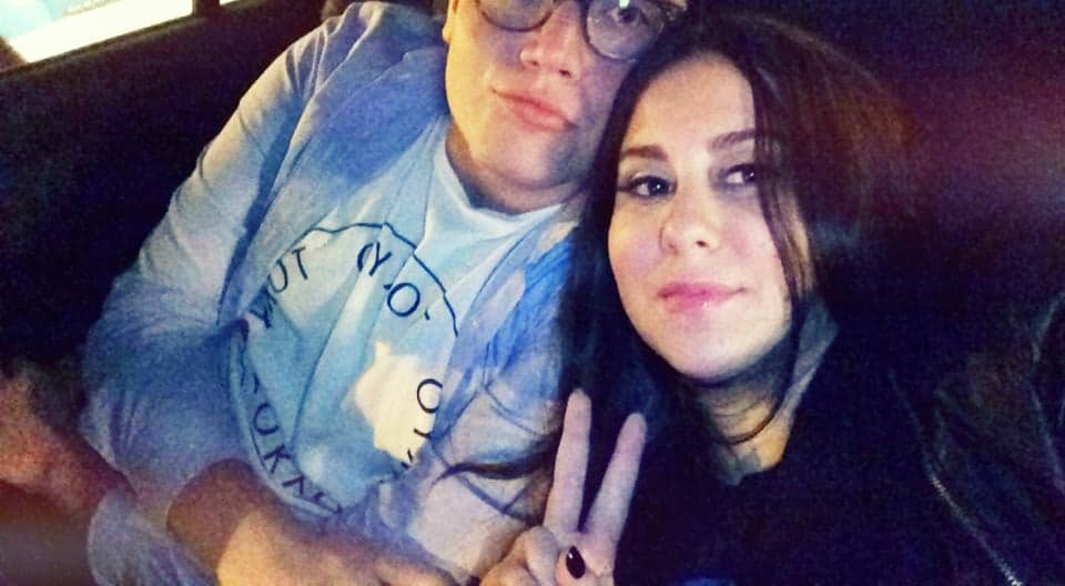 Claudia Oshry with Ben Soffer in 2014 when they were dating