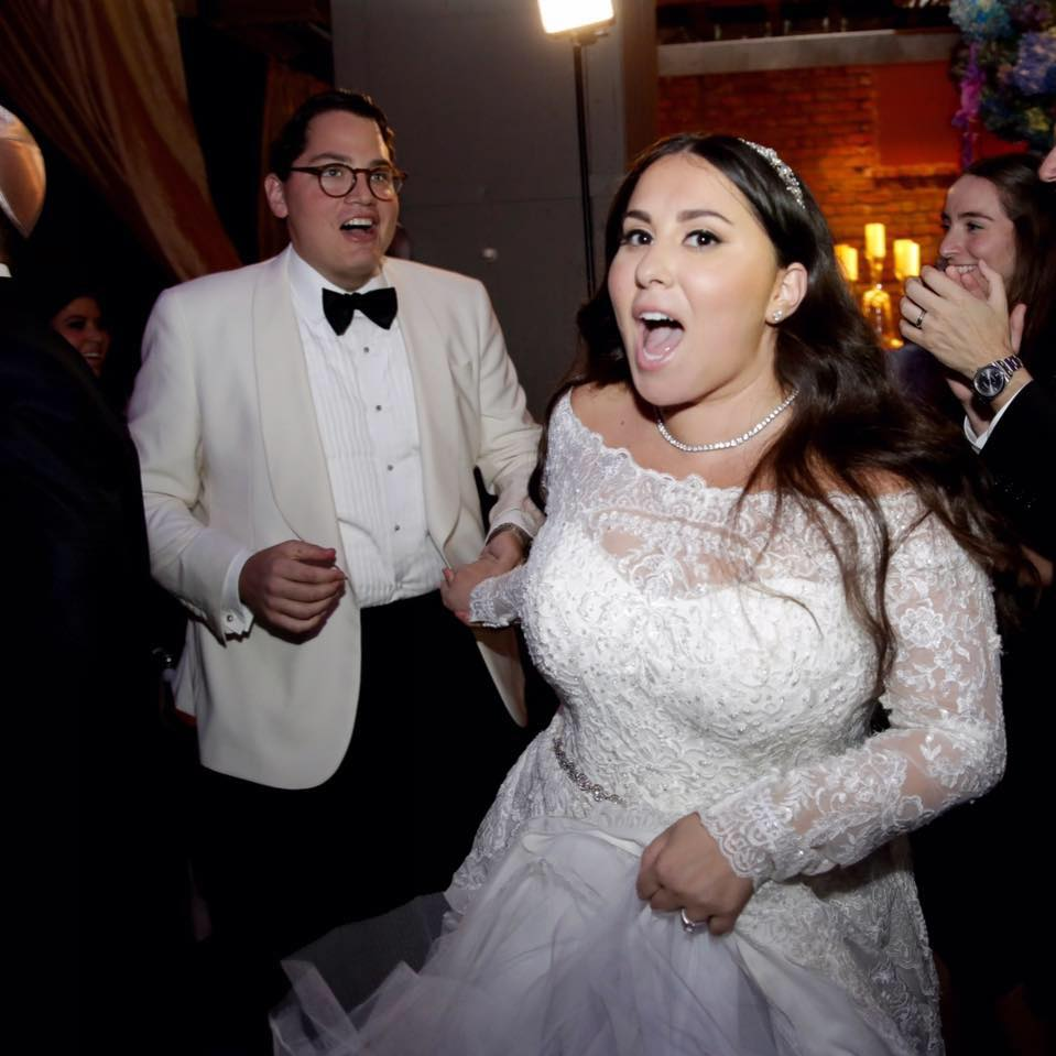 Claudia Oshry with Husband Ben Soffer on Wedding Day