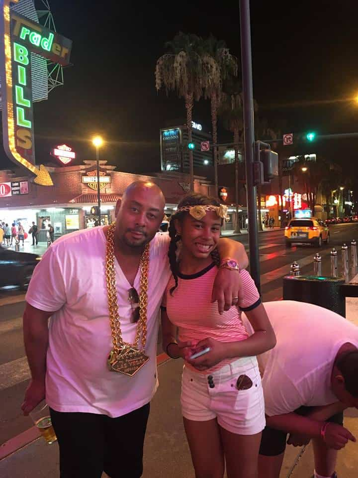 Raymond Santana with Daughter Melleah Symone in Vegas