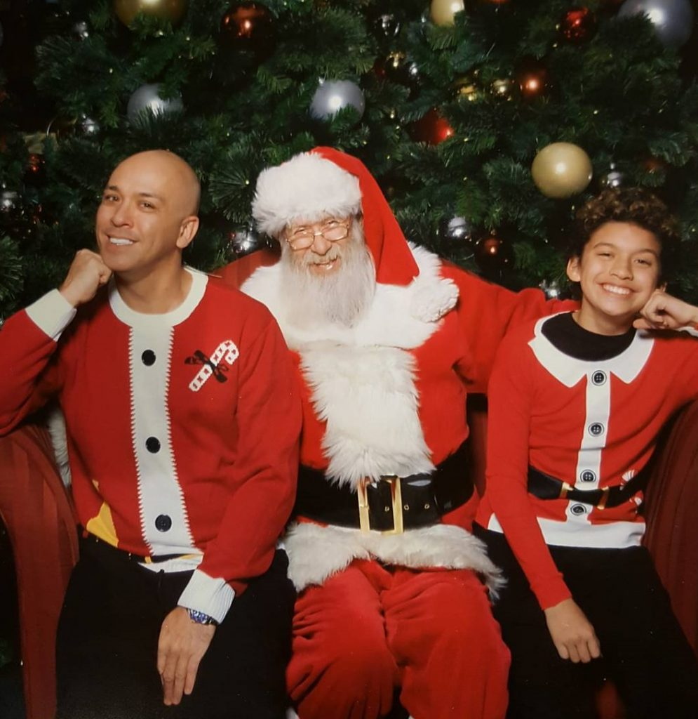 Jo Koy with his Son Joseph Herbert Jr. on Christmas