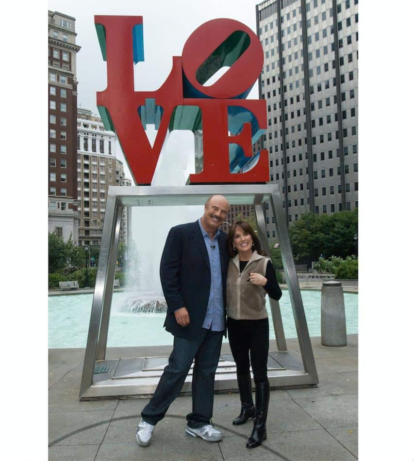 Dr Phil with his Wife Robin McGraw