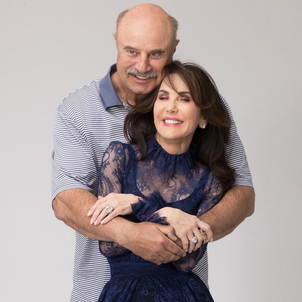 Dr Phil with his wife Robin McGraw on Photoshoot