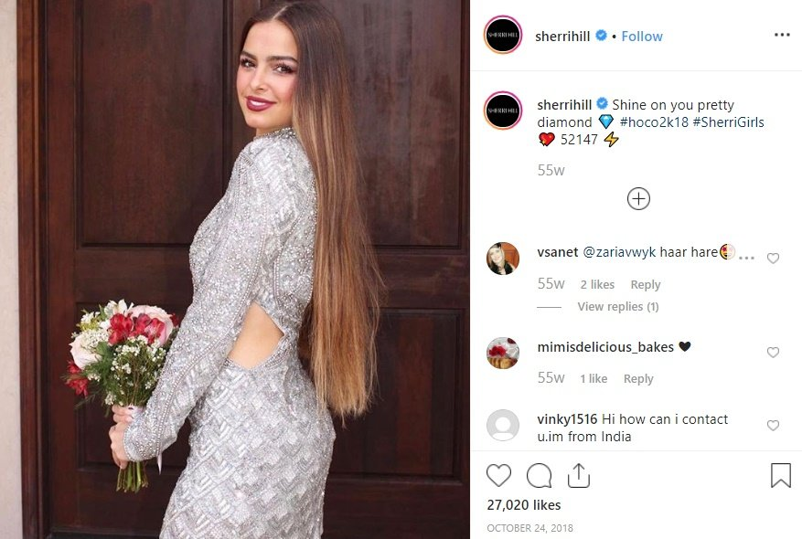 Addison Rae featured as a Model for Sherri Hill Brand