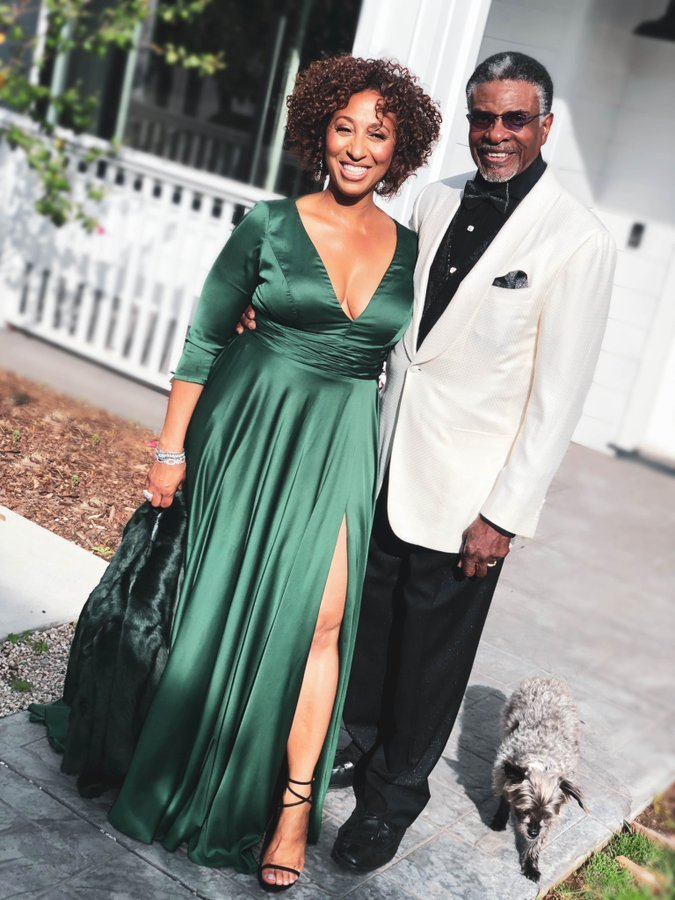 Dionne Lea Williams with husband Keith David on a Date